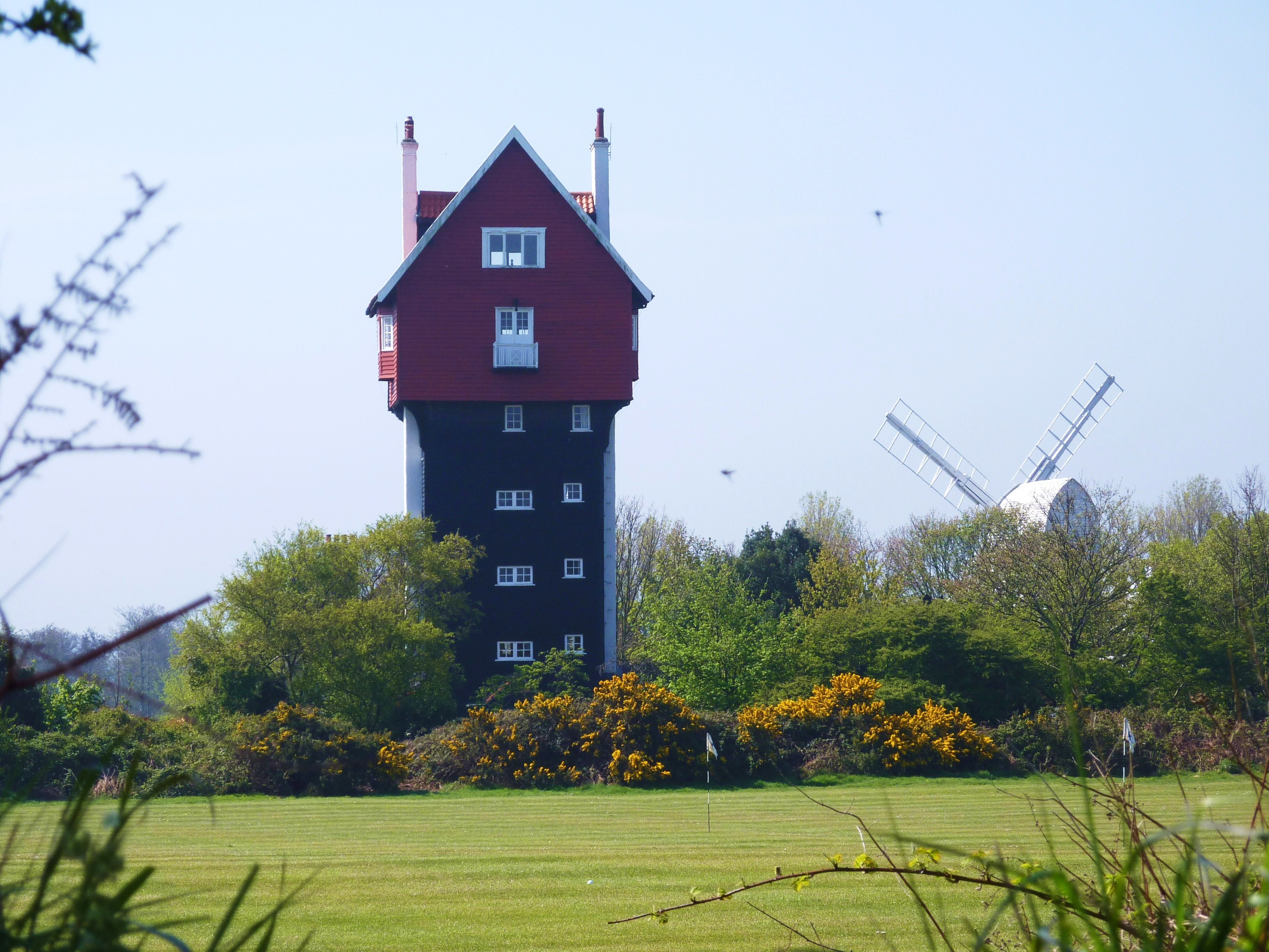 House in the Clouds and windmill - overlooking the golf course.